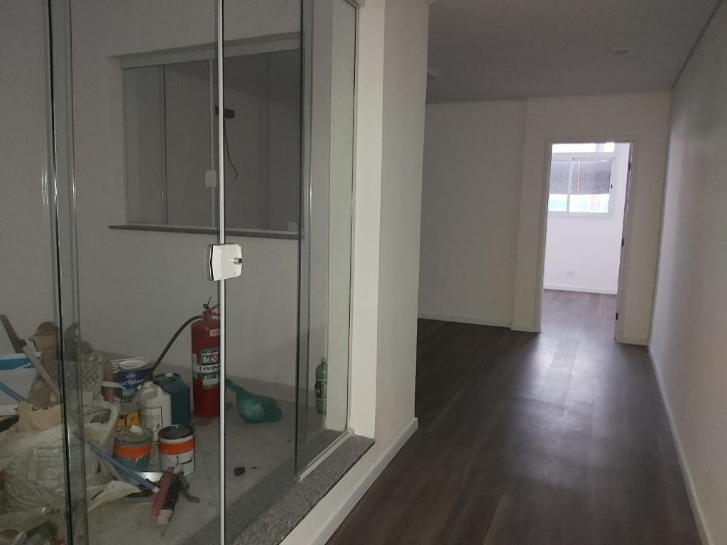 sala em vila nova, santos/sp de 48m² para locação r$ 930,00/mes - sa373474