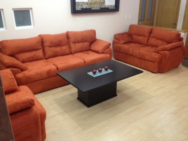 Sala en 3 piezas moderna minimalista mod atenas 7 990 for Muebles de sala 3 piezas