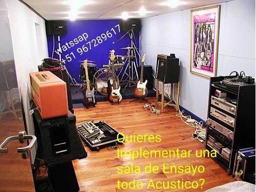 sala ensayo construccion & estudio grabacion acustico