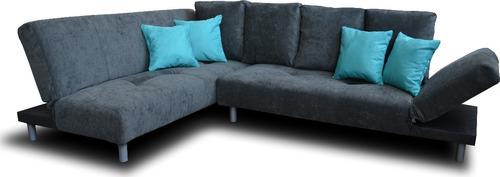 sala esquinera con sofa cama sillon futon envío gratis