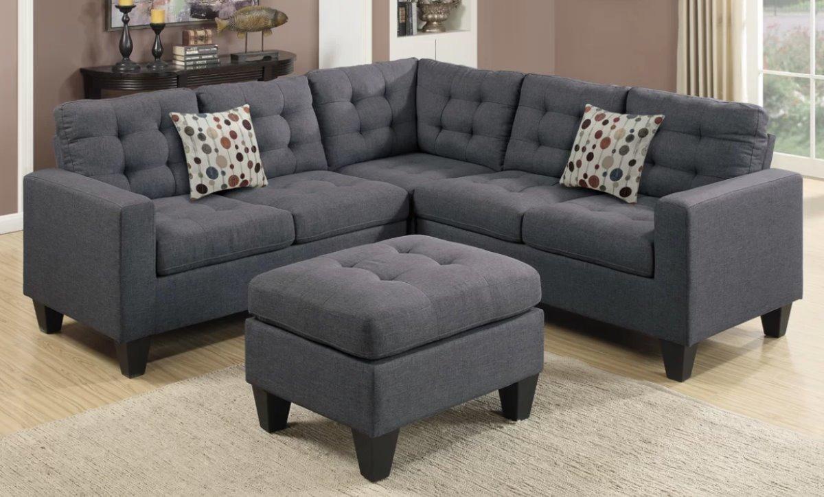 Sala gris vintage remates mx esquinera salas muebles for Muebles modernos para sala