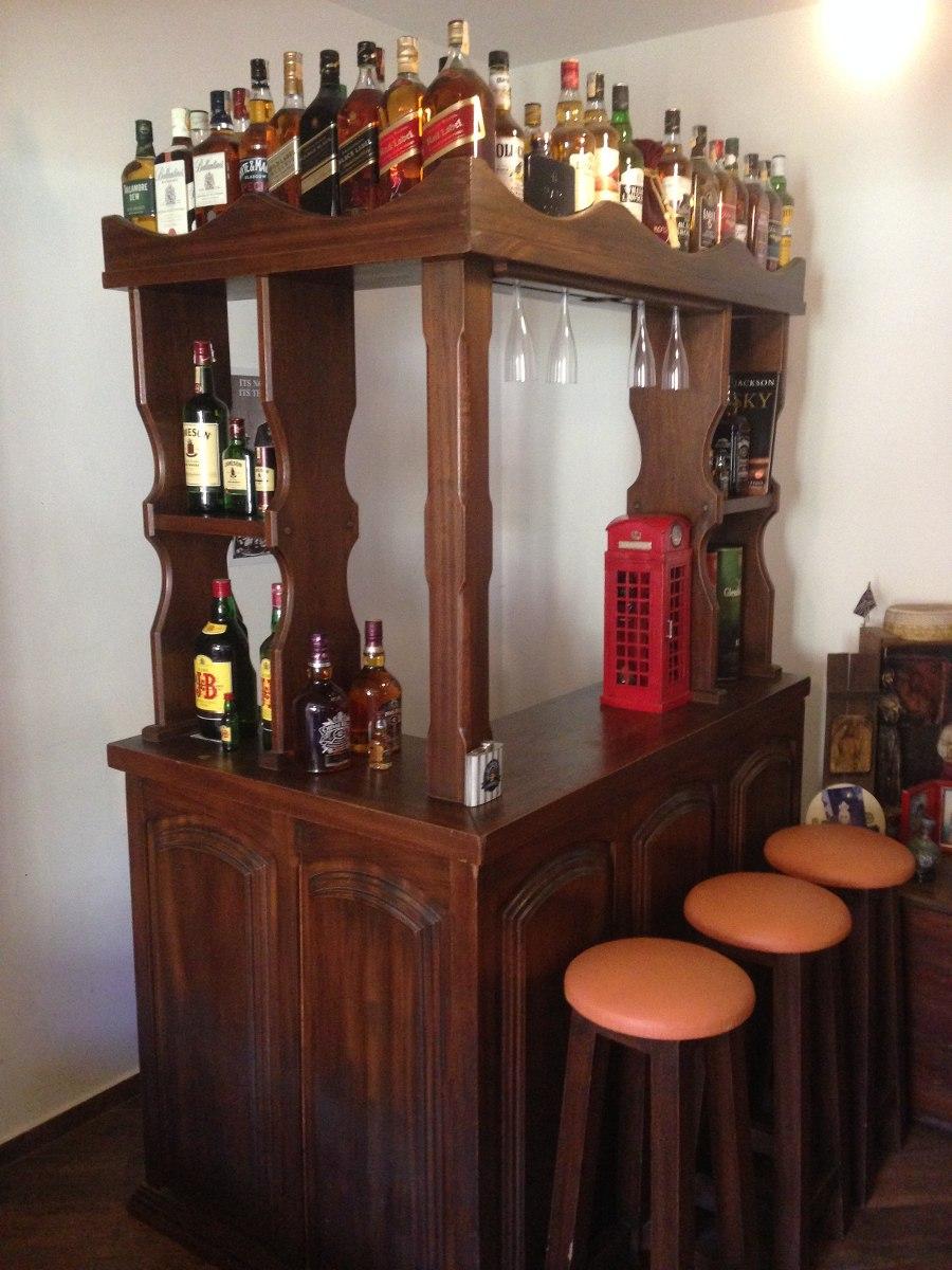 #474632 Bar Adega Sala De Estar Madeira Maciça De Lei C Porta Copos R 4.20000 em Mercado Livre 900x1200 píxeis em Bar Para Sala De Estar Moderno Com Rodas