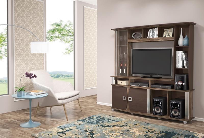 Estante Branca Para Sala De Estar ~ Estante Roma Dj Móveis Perfeita P Sua Sala De Estar 183cm  R$ 739