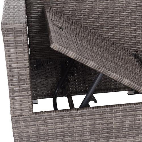 sala exterior gris en l rattan sintetico jardin terraza