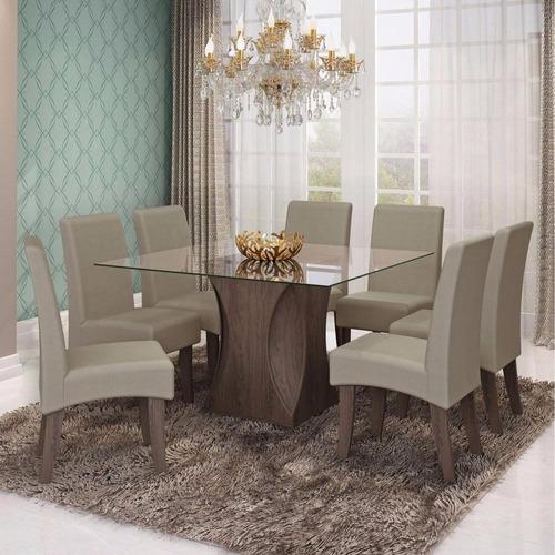 sala jantar andreia 8 cadeiras 135 x 135 cm beatriz cimol