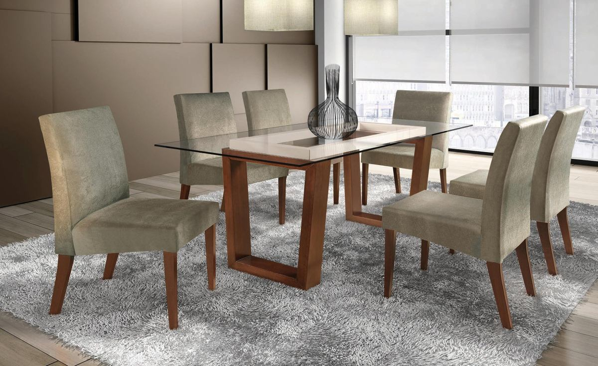 Cadeira Sala De Jantar Herval ~ de casa móveis cadeira estofada para sala de jantar produto de mais
