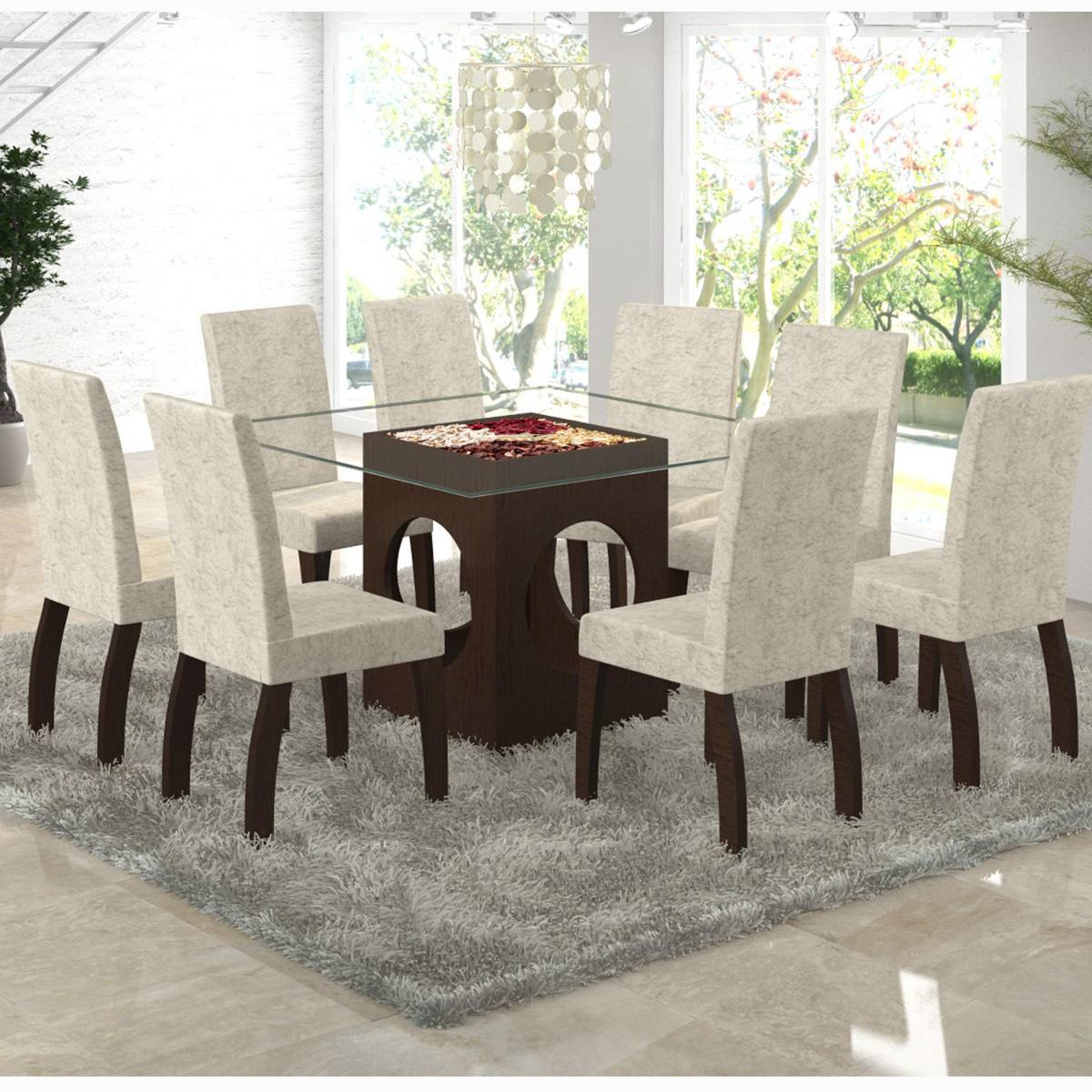 Sala de jantar 8 cadeiras viero f nix choco soft r 1 for Sala 2 conjunto de artes escenicas