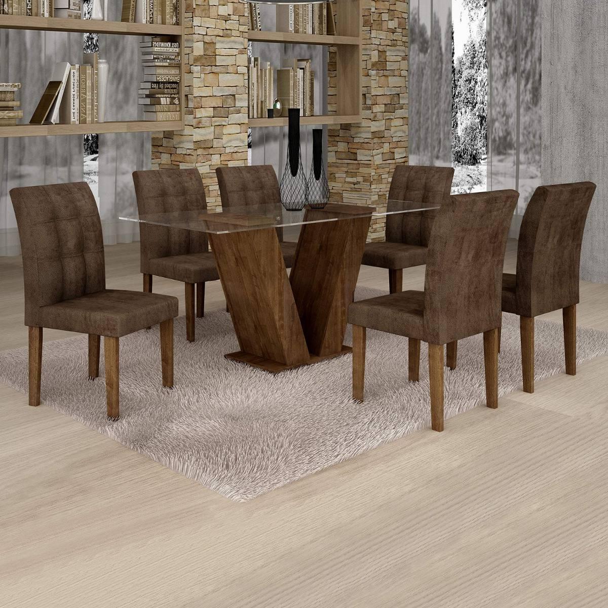9c50fc503 sala jantar classic tampo vidro 6 cadeiras vitória ehwt. Carregando zoom.
