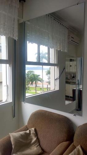 sala-living frente esq. praia ótima vista mar próx. canal 6