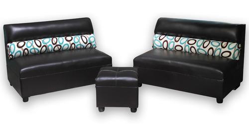 sala minimalista moderna sillones puff pequeñas lounge.