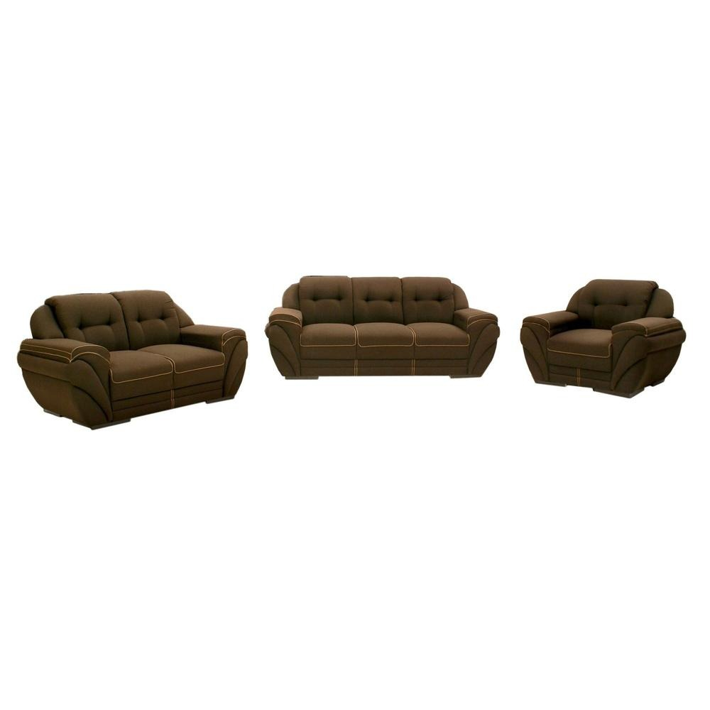 Sala moderna kineta 3 piezas tabaco fabou muebles for Muebles de sala 3 piezas