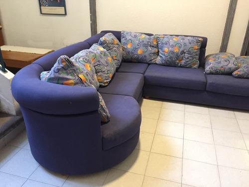 sala moderna modular azul