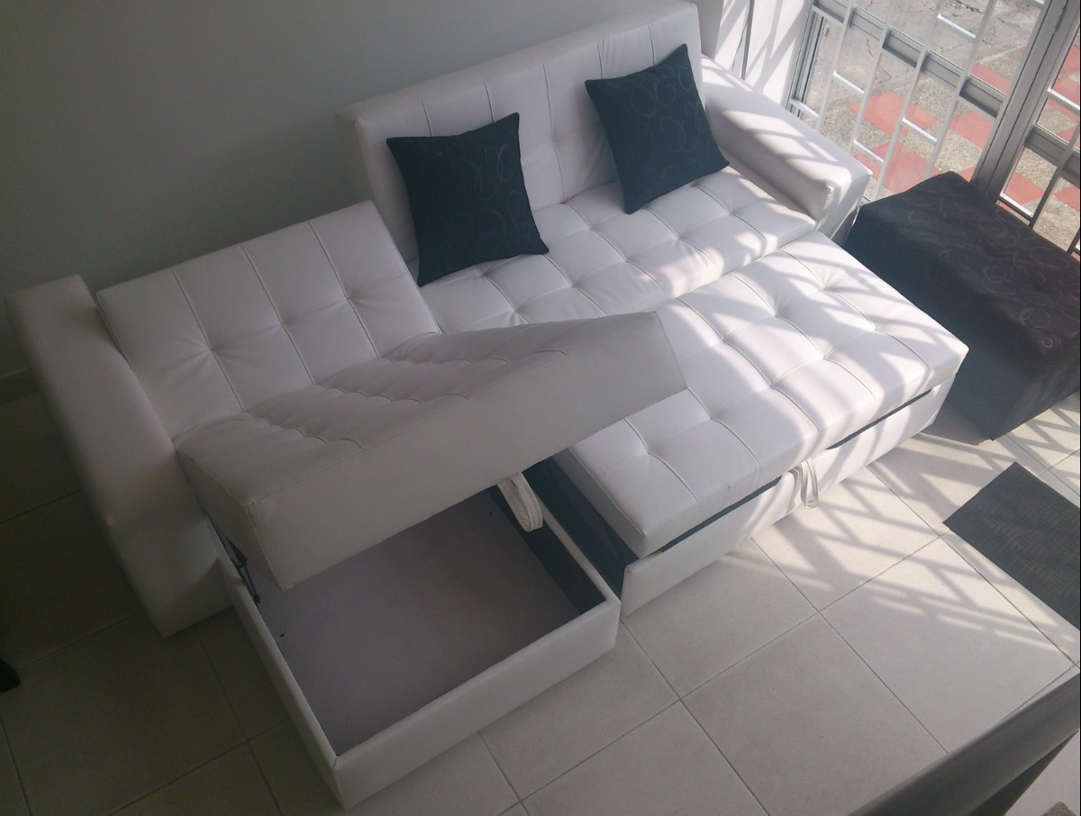 Sala moderna sofa cama con baul puff baul mesa envio - Muebles rey sofa cama ...
