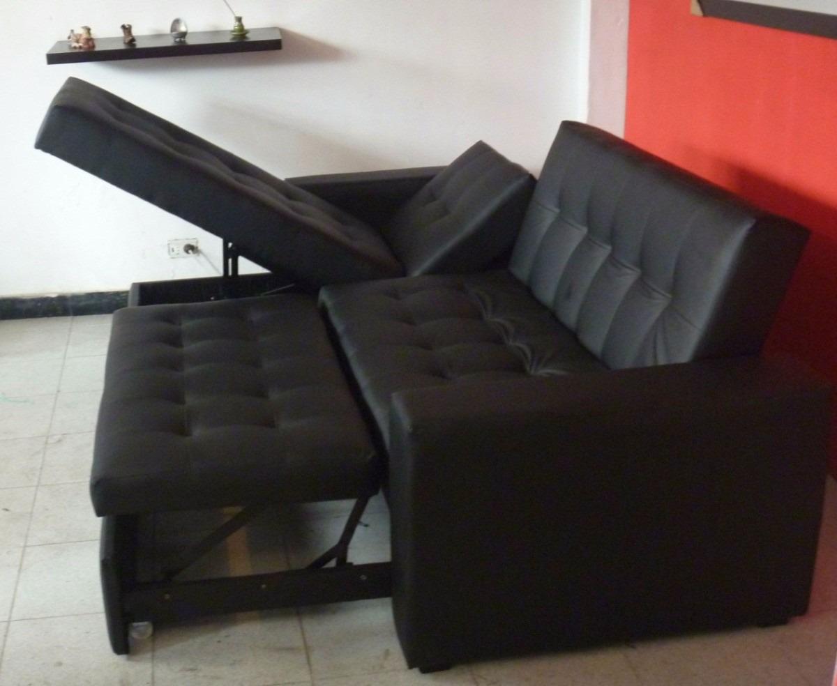 sala moderna sofa cama con baul puff baul mesa envio