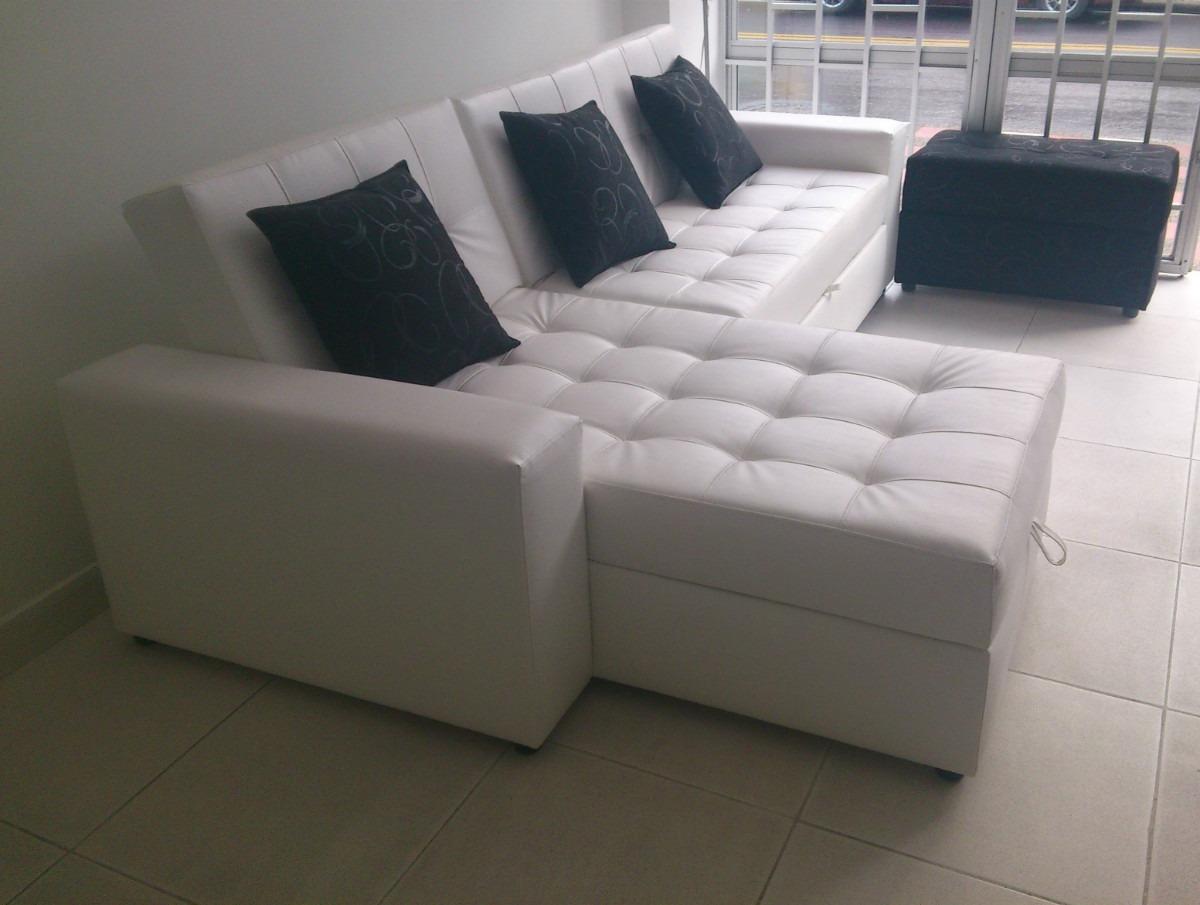 Sala moderna sofa cama con baul puff baul y 3 cojines - Tiempo en camas ...