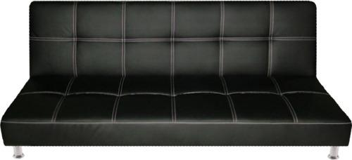 sala move - sofa cama click ecocuero + 2 puff - nuevo!
