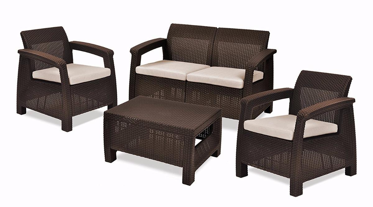 Muebles De Rattan Sintetico Para Jardin Simple Conjunto De  # Muebles De Bejuco
