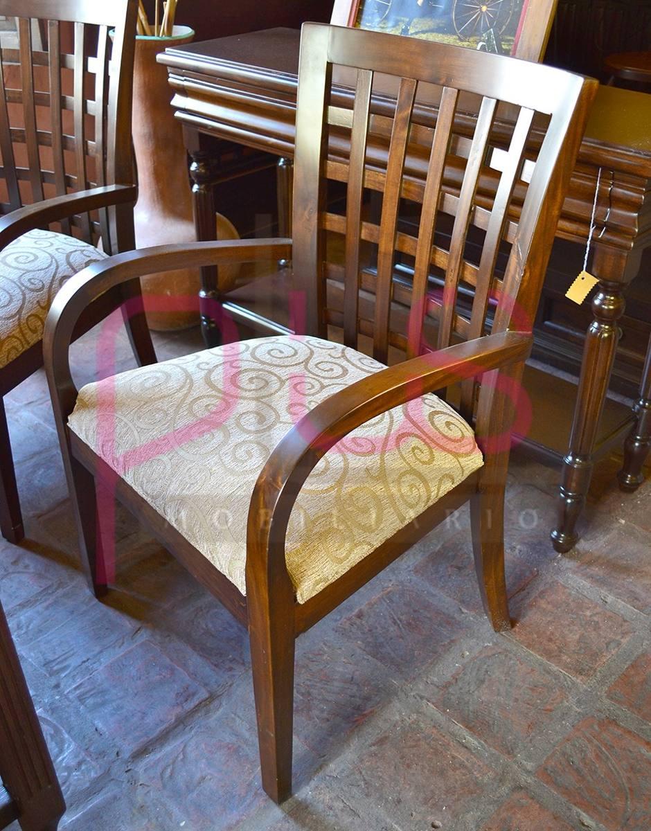Silla para sala o recibo estilo poltrona de madera muebles for Estilos de muebles para sala