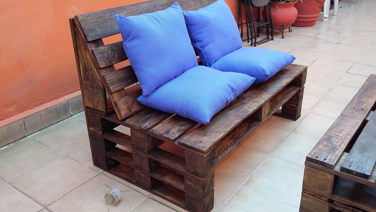Sala palet vintage madera reciclada pallets tarima for Muebles de tarimas de madera recicladas