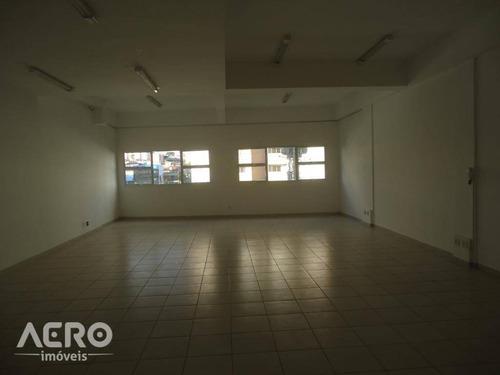 sala para alugar, 102 m² por r$ 1.800,00/mês - vila santa tereza - bauru/sp - sa0106