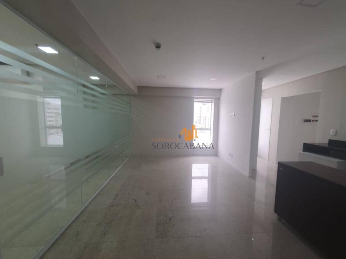 sala para alugar 15º andar, 131 m² por r$ 5.300/mês - parque campolim - sorocaba/sp - sa0007