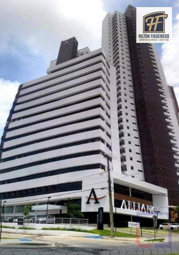 sala para alugar, 30 m² por r$ 1.800,00/mês - altiplano cabo branco - joão pessoa/pb - sa0049