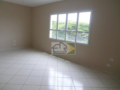 sala para alugar, 31 m² por r$ 750,00/mês - centro - suzano/sp - sa0001