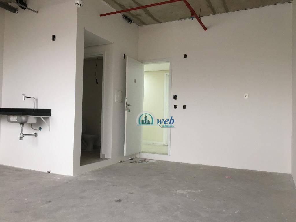 sala para alugar, 33 m² por r$ 1.000,00/mês - vila homero thon - santo andré/sp - sa0231