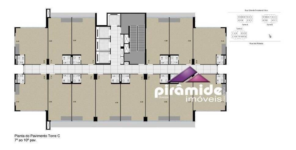 sala para alugar, 33 m² por r$ 850,00/mês - jardim aquarius - são josé dos campos/sp - sa0665
