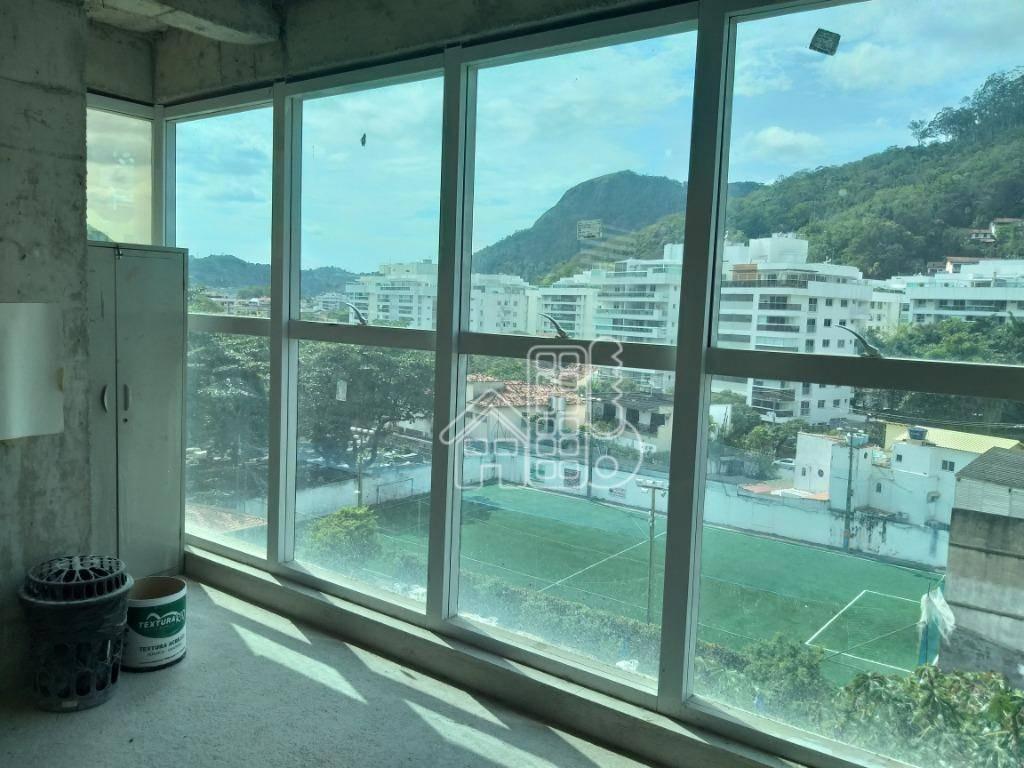sala para alugar, 35 m² por r$ 2.250/mês - charitas - niterói/rj - sa0120