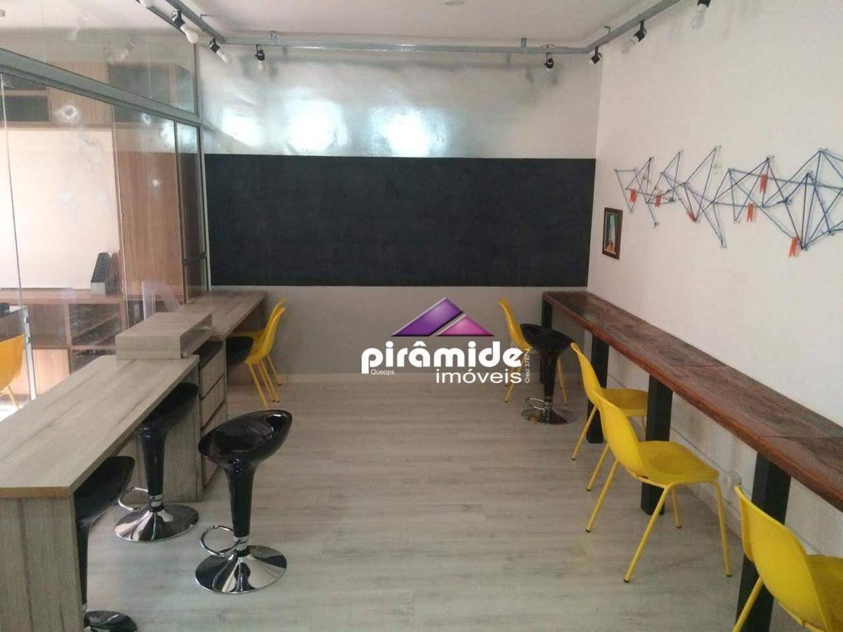 sala para alugar, 40 m² por r$ 950,00/mês - centro - são josé dos campos/sp - sa0589