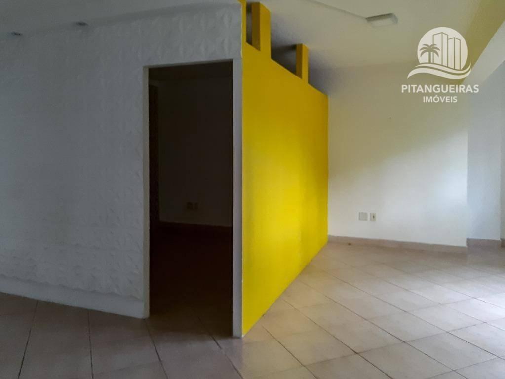 sala para alugar, 42 m² por r$ 2.300,00/mês - pitangueiras - guarujá/sp - sa0025