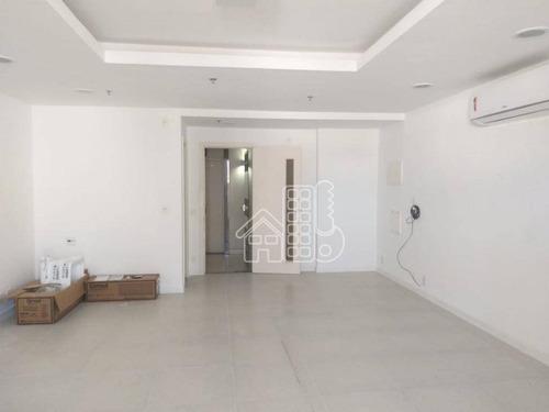 sala para alugar, 50 m² por r$ 3.500,00/mês - icaraí - niterói/rj - sa0016