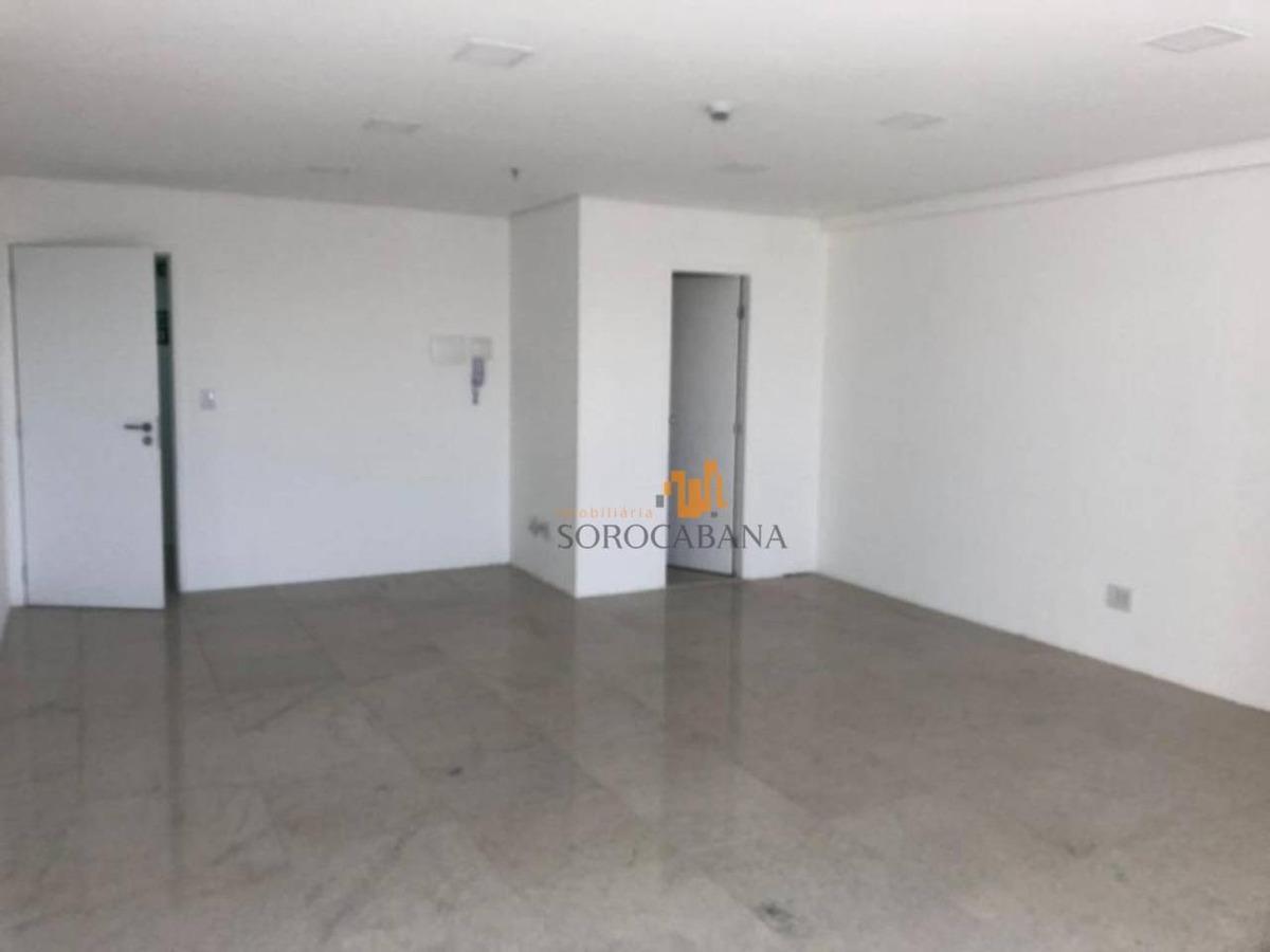 sala para alugar, 54 m² por r$ 2.200,00/mês - parque campolim - sorocaba/sp - sa0005