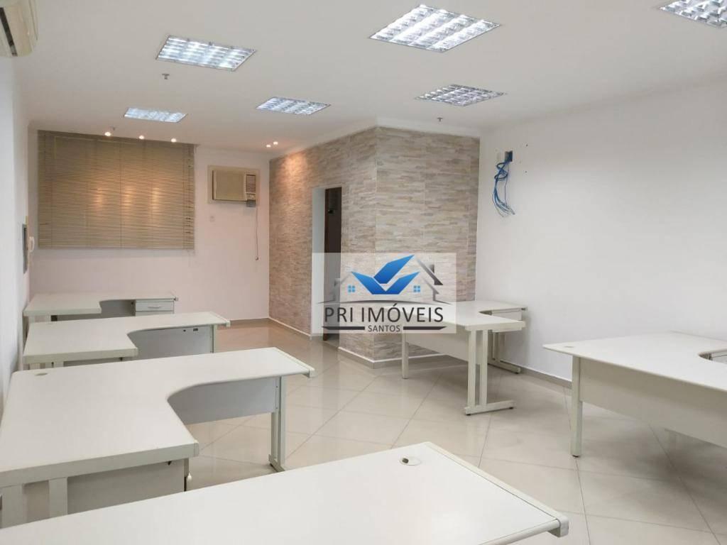 sala para alugar, 65 m² por r$ 3.000,00/mês - centro - santos/sp - sa0048