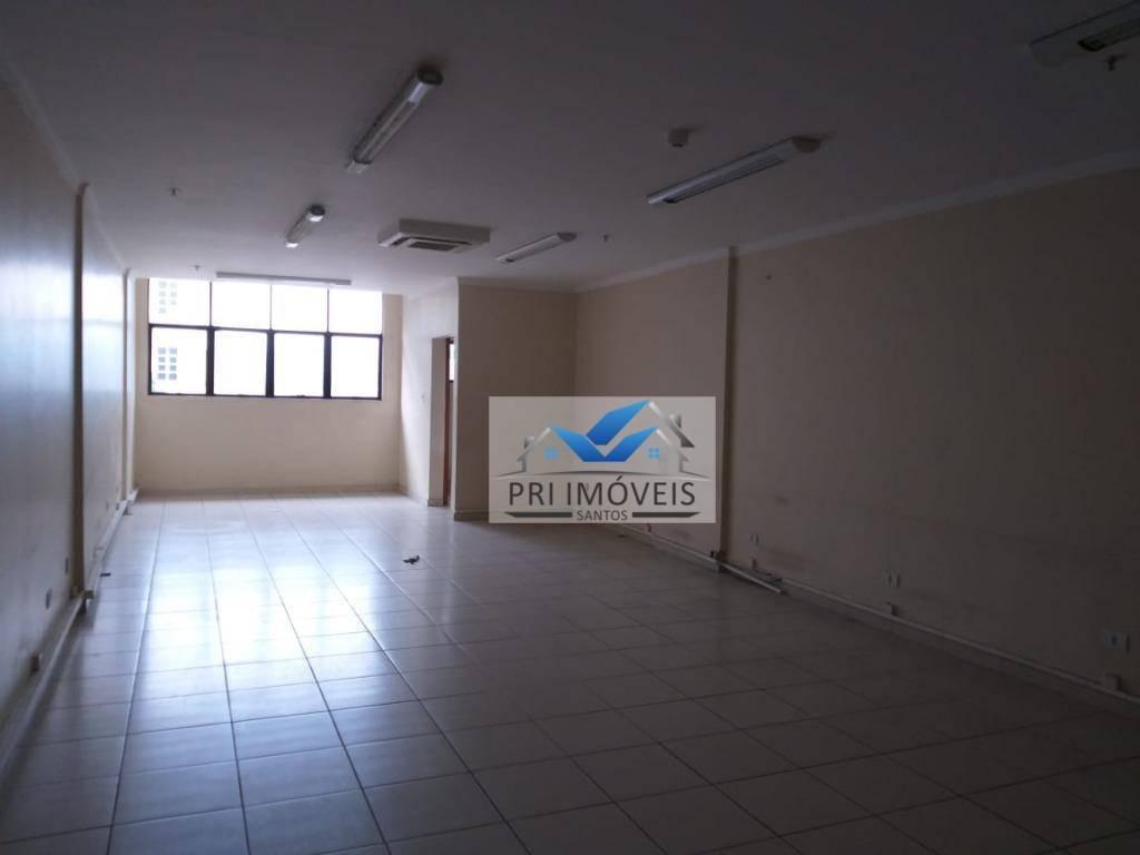 sala para alugar, 75 m² por r$ 4.000,00/mês - centro - santos/sp - sa0047