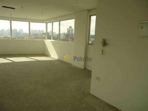 sala para alugar, 90 m² por r$ 2.626/mês - centro - são bernardo do campo/sp - sa0121