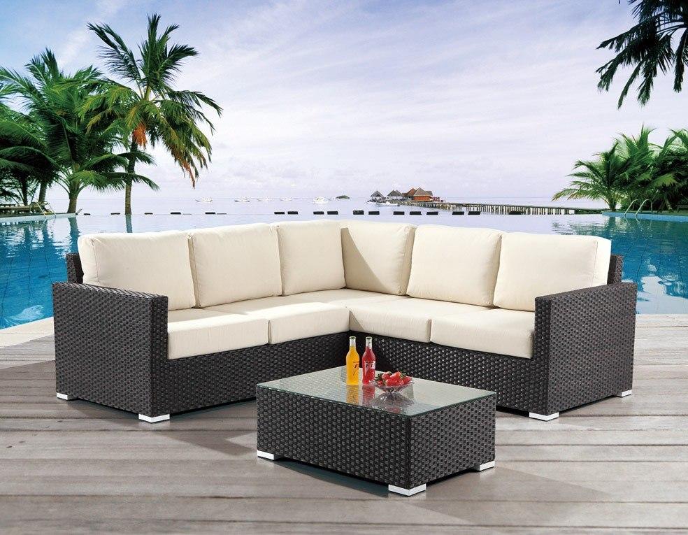 Sala rattan sintetico ideal para exterior 34 for Muebles de exterior para terrazas