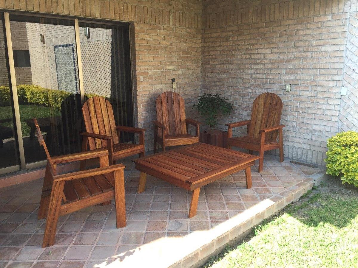 Sala Para Exterior Jardin Terraza Alberca En Madera