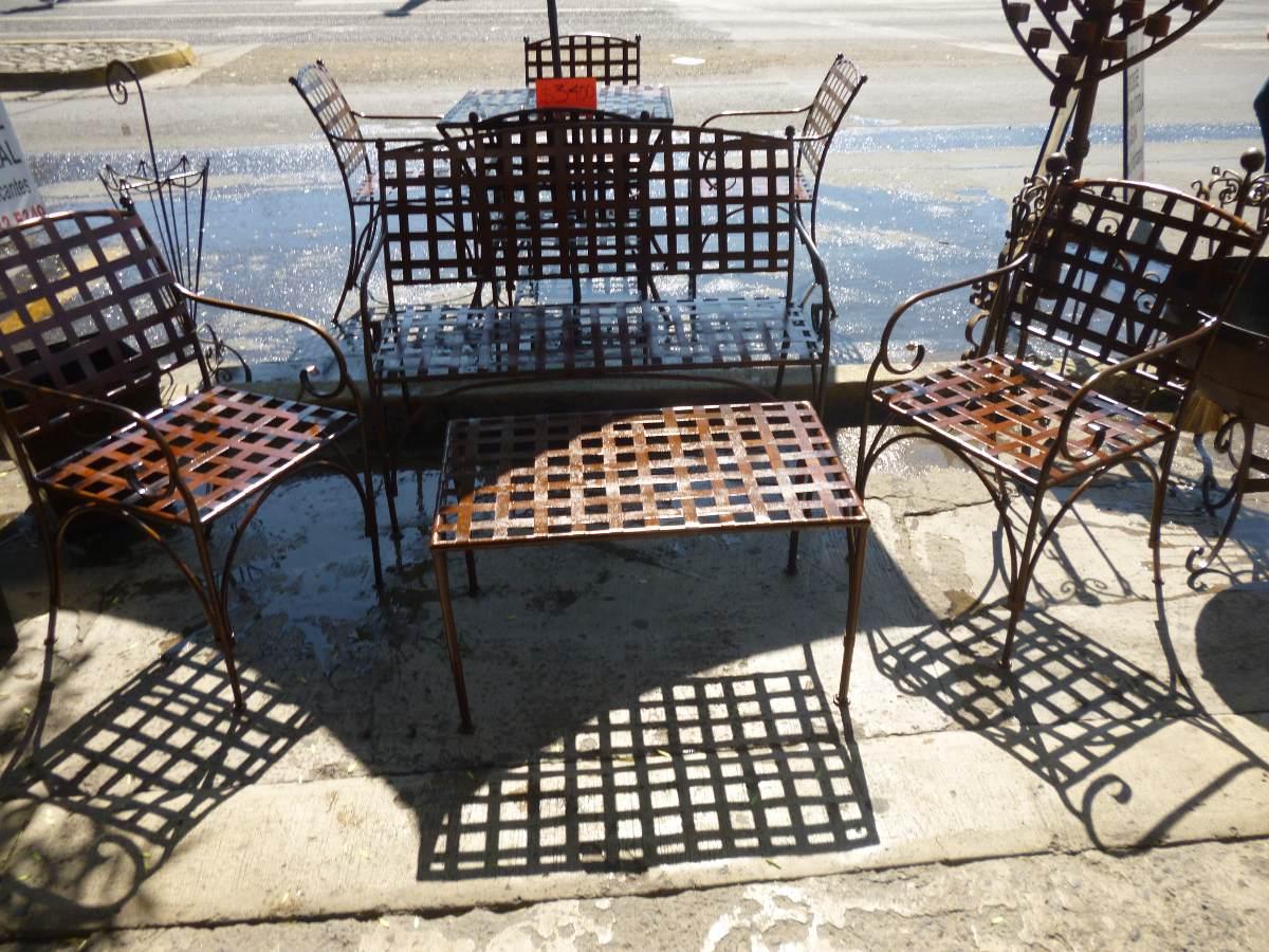 Sala Para Jardin En Herreria Forjada - $ 5,900.00 en Mercado Libre