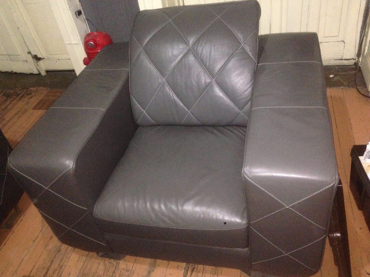 Sala piel genuina 3 piezas la m s barata de mercadolibre for Muebles de sala 3 piezas