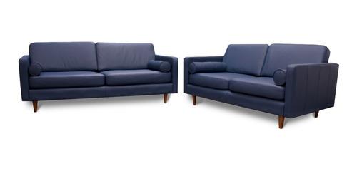 sala piel genuina sofa y love - oslo - confortopiel