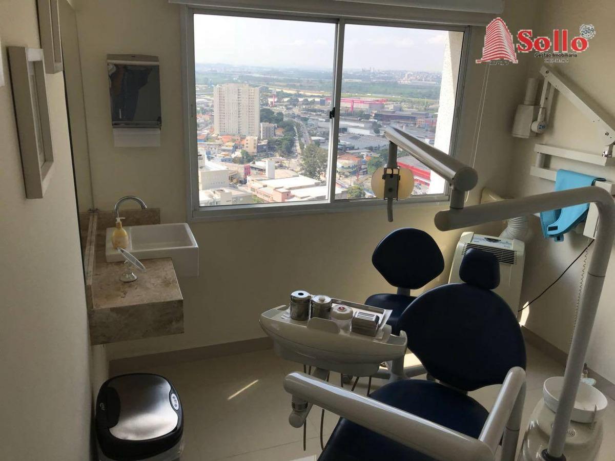 sala pronta para clinica odontológica, 44m² - centro - guarulhos/sp - sa0001