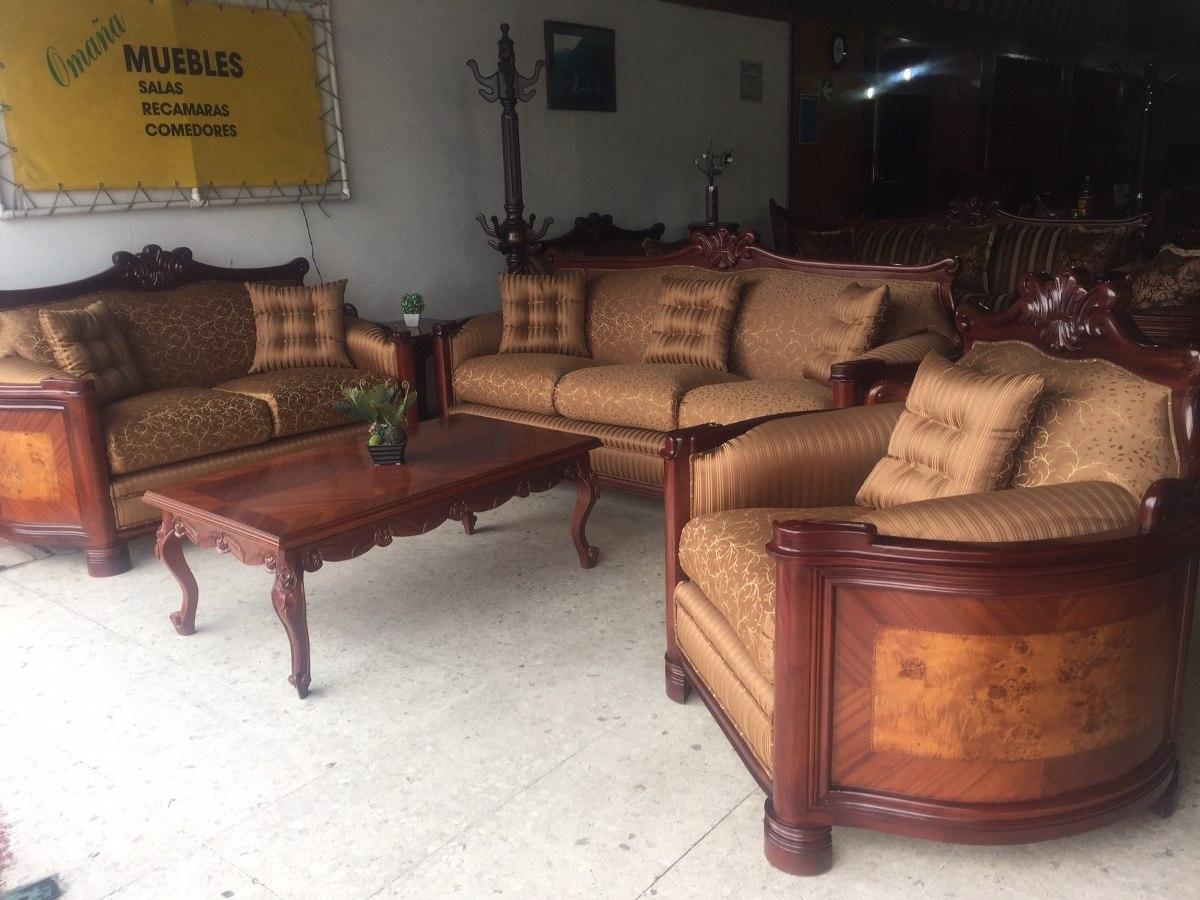 Sala provenzal modelo padoba tallada a mano madera fina for Muebles de sala ibague