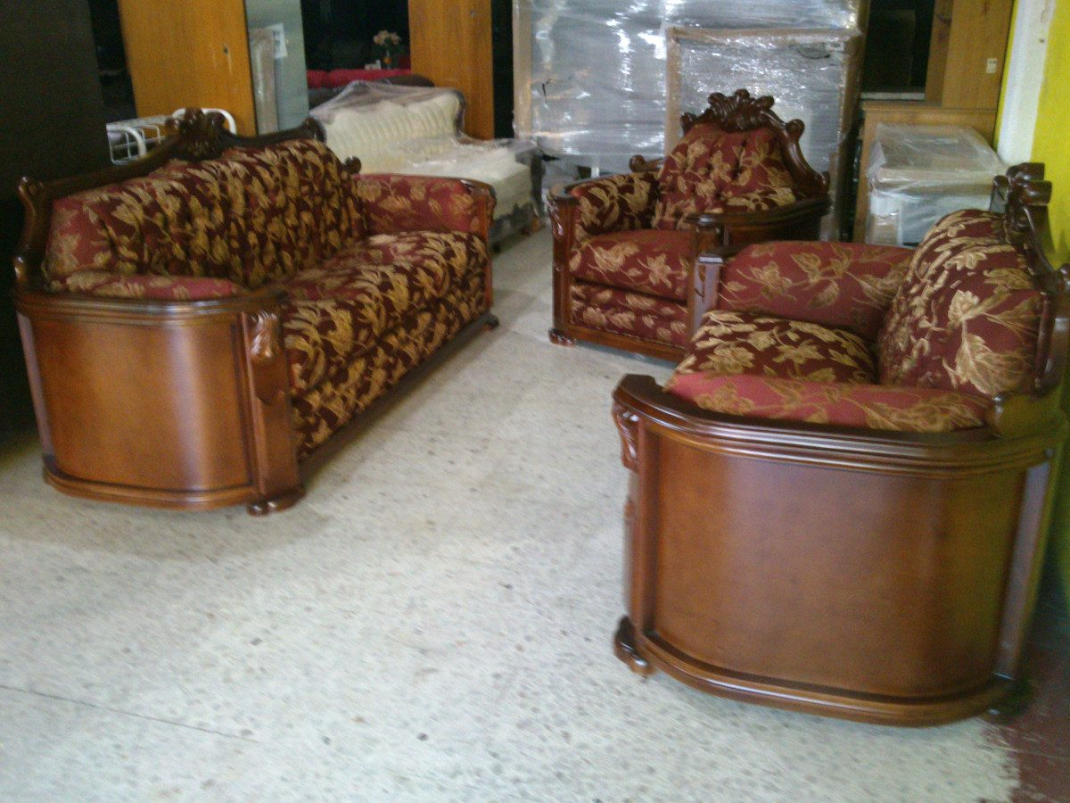 Sala provenzal modelo padova talada a mano en madera fina for Modelos de muebles de sala