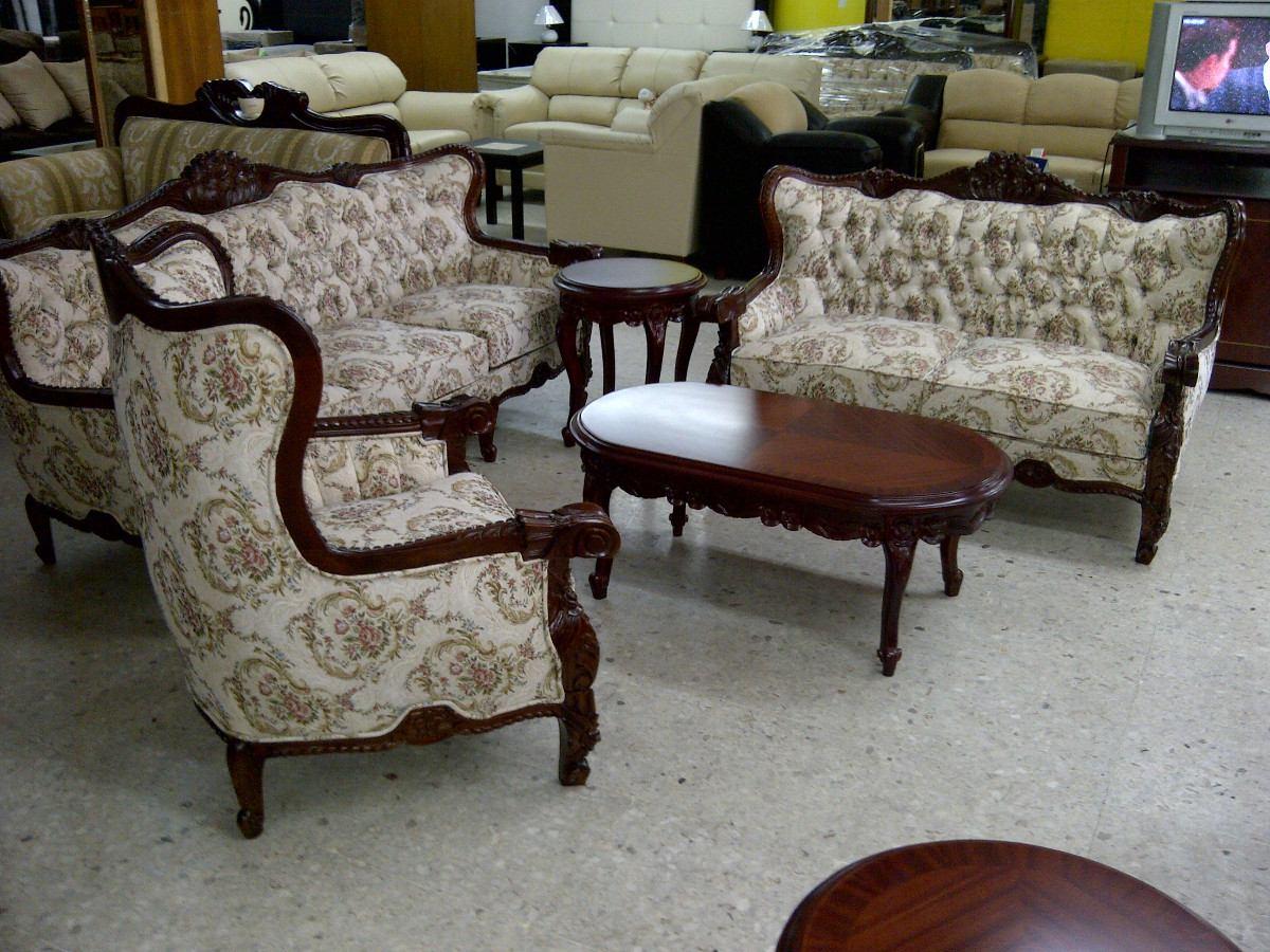 Sala provenzal torsal en cedro tallada a mano muebles for Modelos de muebles