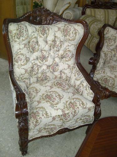 sala provenzal torsal en cedro tallada a mano muebles finos
