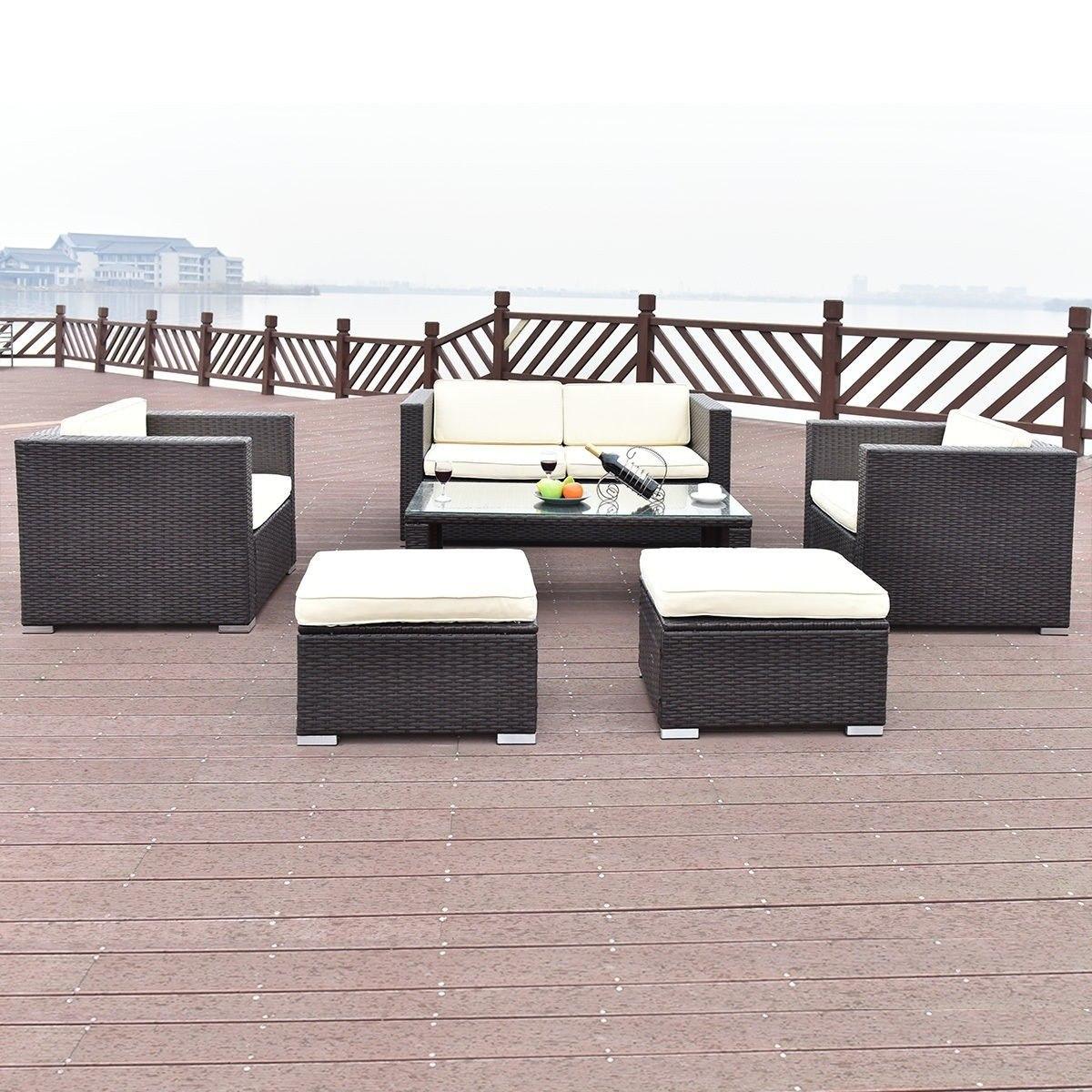 Sala Rattan Exterior Muebles Jardín Terraza Piscina Moderna