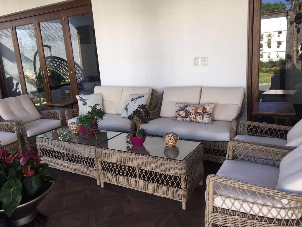 Sala rattan para exterior jardin terraza sofa mesa for Mesa exterior terraza