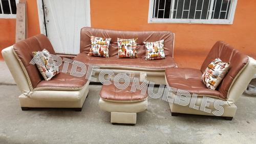 sala reclinable kioto sofa 3 puestos abullonada